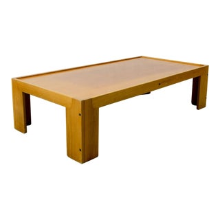 Mid-Century Italian Design Solid Wood Coffee Table by Tobia Scarpa for Cassina, Italy, 1970s For Sale