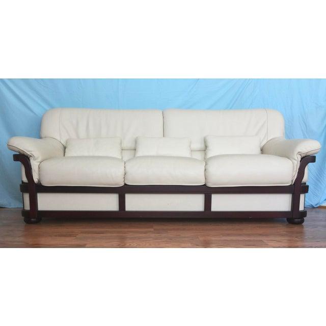 Italian Designer Leather Sofa
