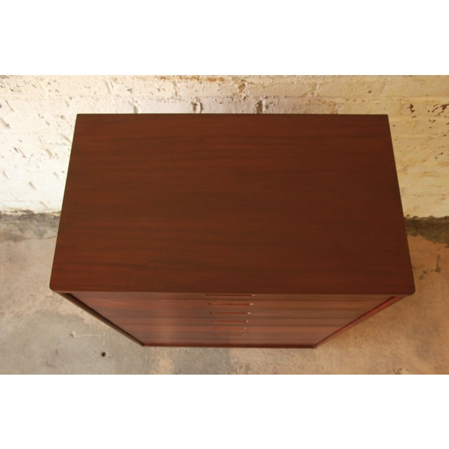 Edward Wormley for Dunbar Mahogany Tallboy Dresser - Image 4 of 9