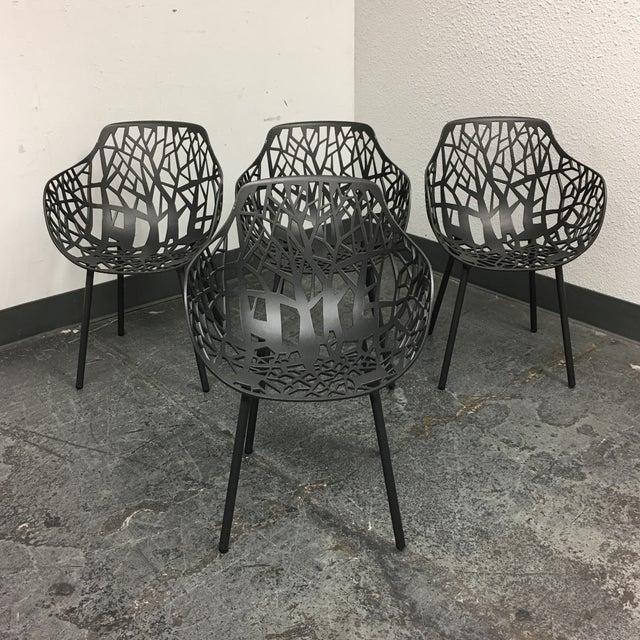 Janus Et Cie Metallic GreyForrest Dining Chair - Set of 4 - Image 2 of 10