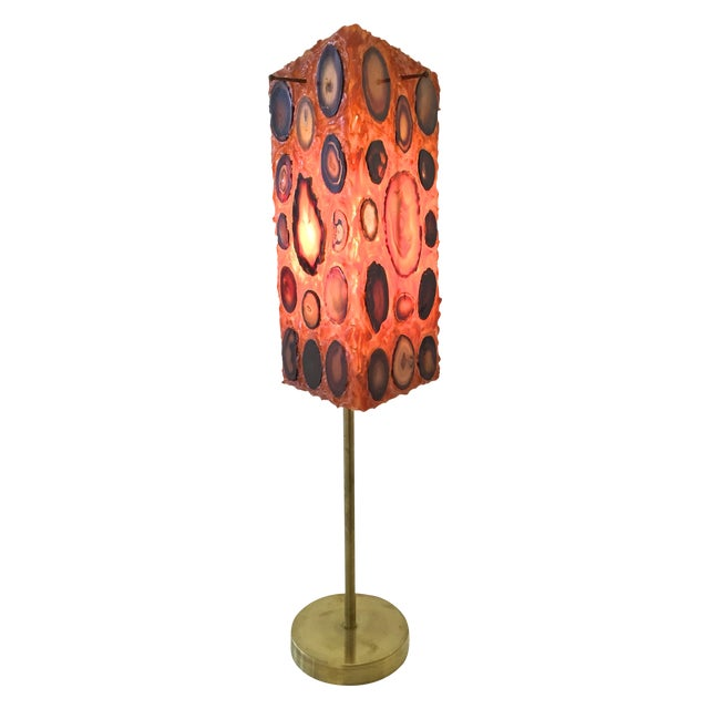French Agate and Resin Table Lamp - Image 1 of 11