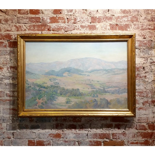 Charles Fries -The Land of the Oaks-California Plein Air Oil Painting c1918 For Sale - Image 12 of 12