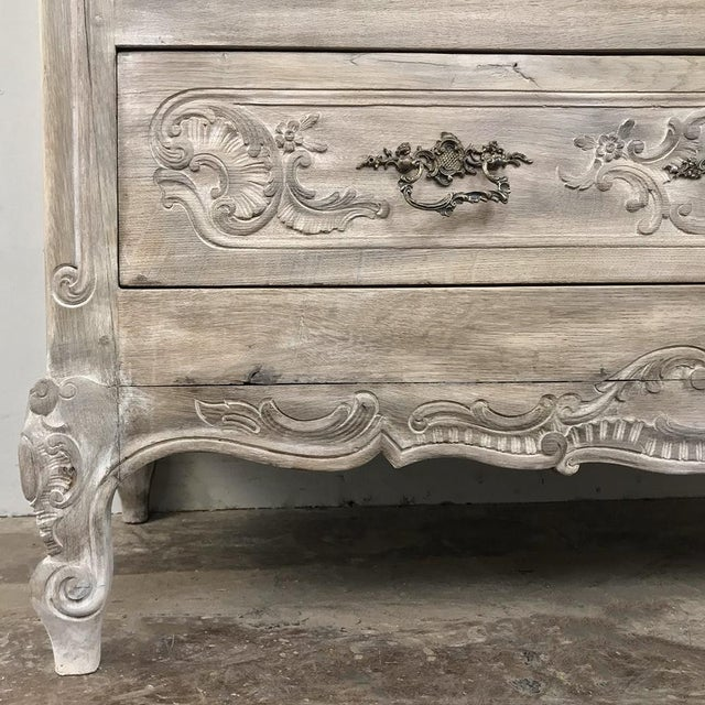 19th Century Country French Whitewashed Commode For Sale - Image 10 of 13