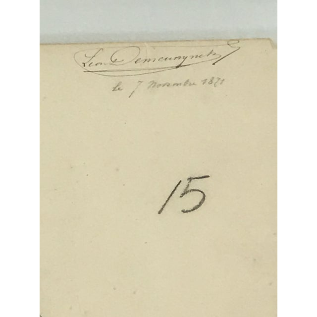 French Provincial 19th Century French Medical Drawing of Front Muscular Structure For Sale - Image 3 of 6