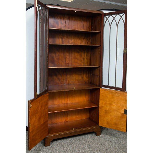 English Mahogany Display Cabinet For Sale - Image 9 of 10