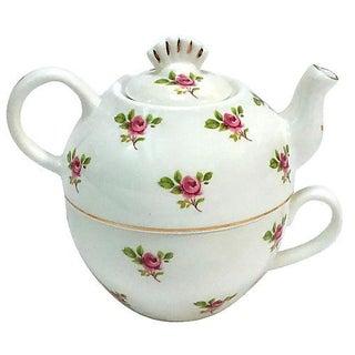 Porcelain Portable Cup & Teapot Combo For Sale