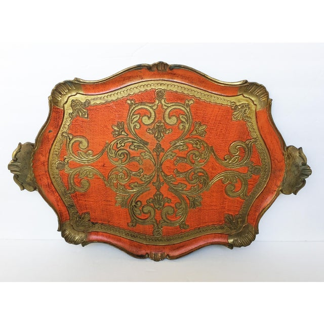 Vintage Italian Florentine Serving Tray - Image 2 of 8