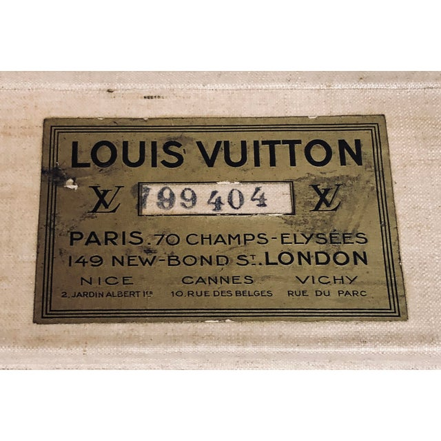 Early 20th Century Louis Vuitton Paris Monogram Canvas Trunk, Hard Suitcase For Sale In Dallas - Image 6 of 13