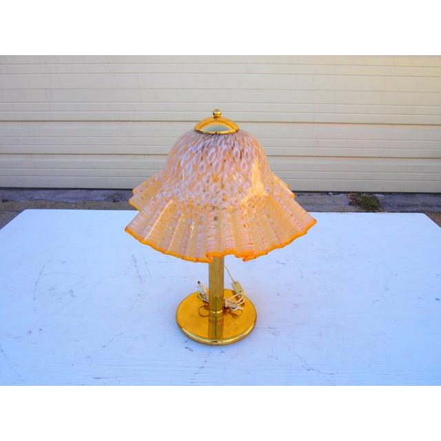 Murano Glass Handkerchief Lamp - Image 3 of 4