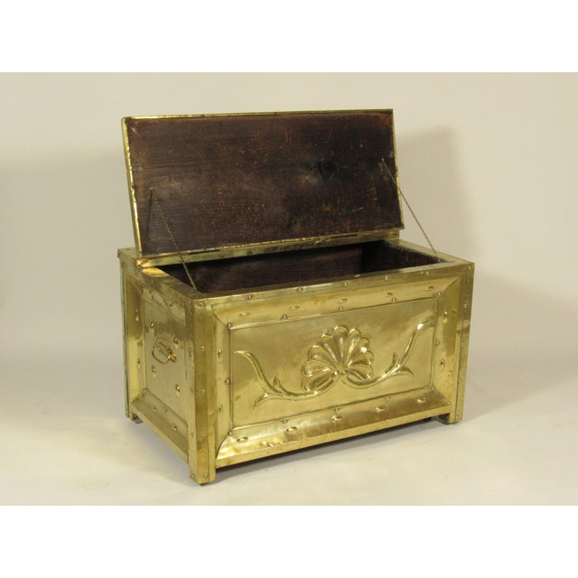 19th Century Swedish Brass Wood Box For Sale - Image 5 of 8