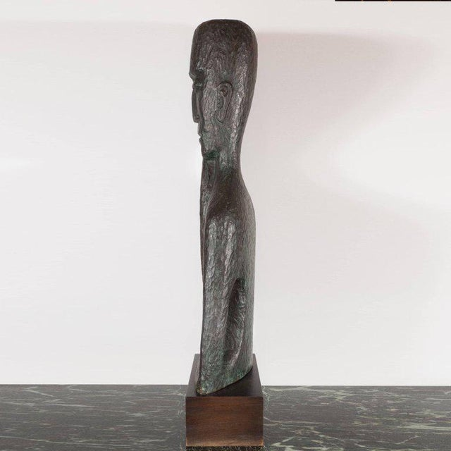 Mid-Century Modern Signed Mid Century Modern Large Scale Patinated Bronze Sculpture For Sale - Image 3 of 10