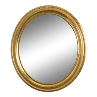 Napoleon III Brass Oval Mirror For Sale