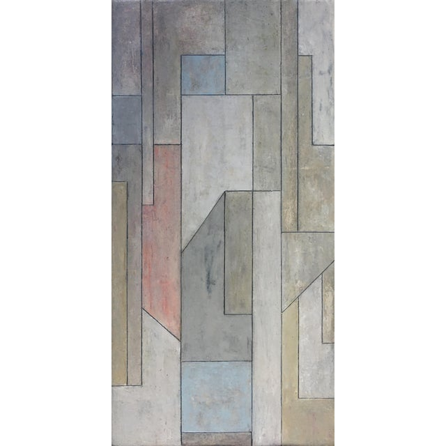 Paint Abstract Geometric Vertical Study by Stephen Cimini For Sale - Image 7 of 7