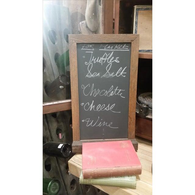 Slate Chalkboard with Oak Frame - Image 3 of 3