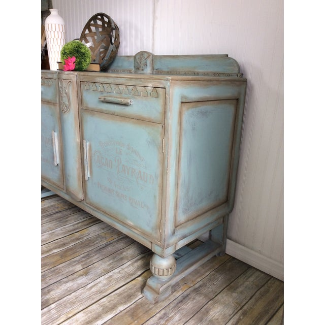 Cottage 1930s French Cottage Painted Buffet For Sale - Image 3 of 13