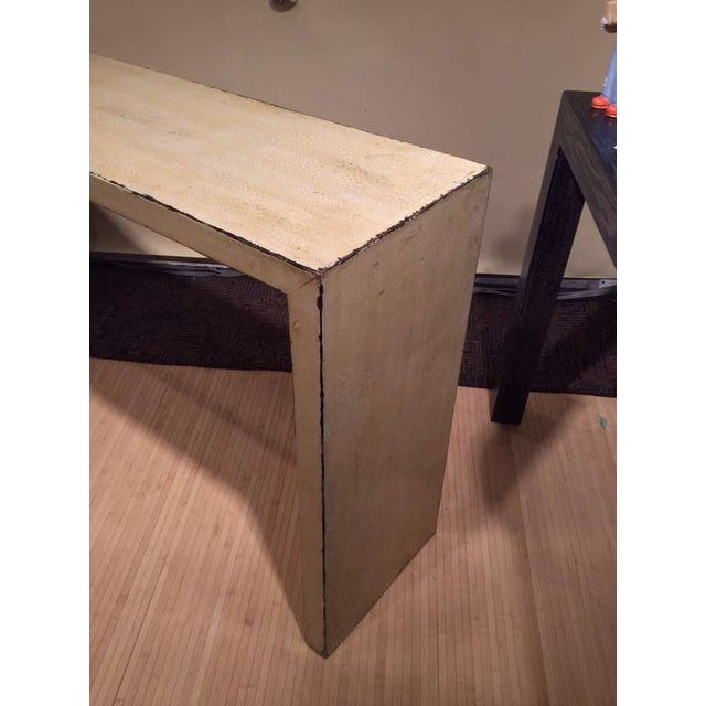 White Crackle Glaze Console For Sale - Image 8 of 9