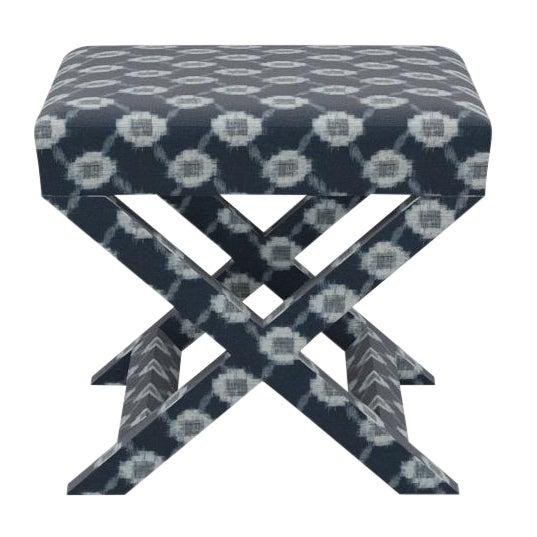 X Bench in Lattice Shibori For Sale