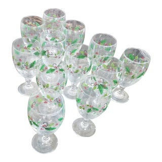 Holly Water Goblets - Set of 12