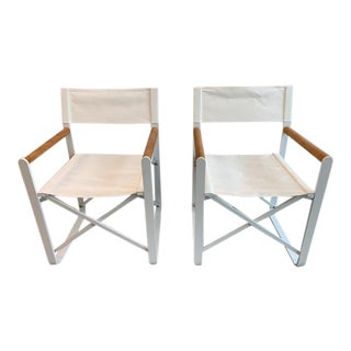 Modern Harbour Outdoor Lca Director Outdoor Chairs- A Pair For Sale