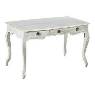 Vintage Swedish Gustavian Style Painted Writing or Dressing Vanity Table For Sale