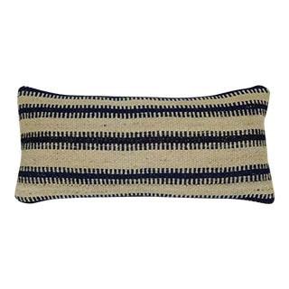 Modern Kilim Pillow Cover 12 X 20 Inch (30 X 50 Cm) Vintage Armchair Lumbar Pillow Cover, Ethnic Striped Turkish Cushion Cover For Sale