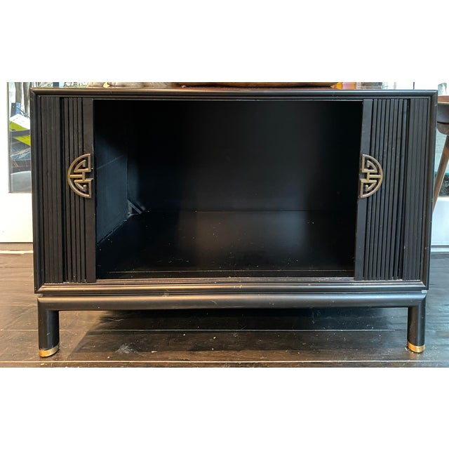 Chinoiserie Chinoiserie Tambour Storage Cabinet For Sale - Image 3 of 9