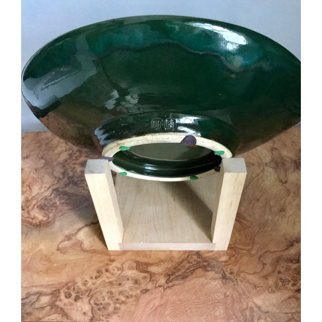 20th Century Abstract Expressionist Hand Thrown Studio Pottery Platter For Sale - Image 4 of 6