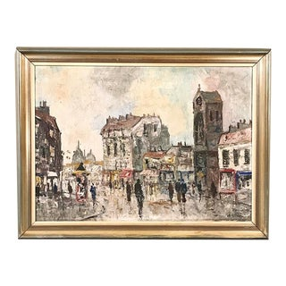 Framed Oil Painting of Parisienne Scene by Benoit For Sale