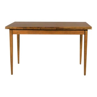Mid Century Modern Draw Leaf Extending Dining Table After Conant Ball For Sale