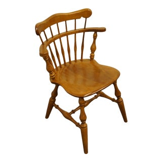 Ethan Allen Heirloom Nutmeg Maple Come Back Chair For Sale