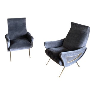 Mid-Century Marco Zanuso Style Chairs- A Pair For Sale