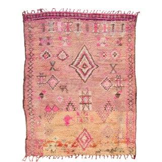 Vintage Boujad Moroccan Wool Rug For Sale
