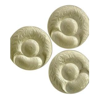 1970s Boho Chic Secla Artichoke Plates - Set of 4 For Sale