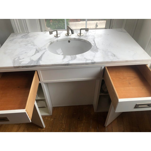 Modern Waterworks Sink/Vanity Fixture For Sale - Image 9 of 13