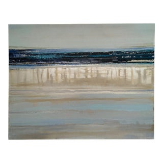 """Early 21st Century """"Blue Water 2"""" Abstract Seascape Oil Painting by Barbara Sussberg For Sale"""