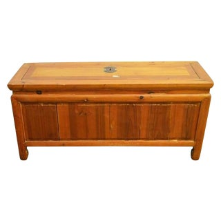 Antique Low Kang Chest with a Natural Patina from 19th Century China