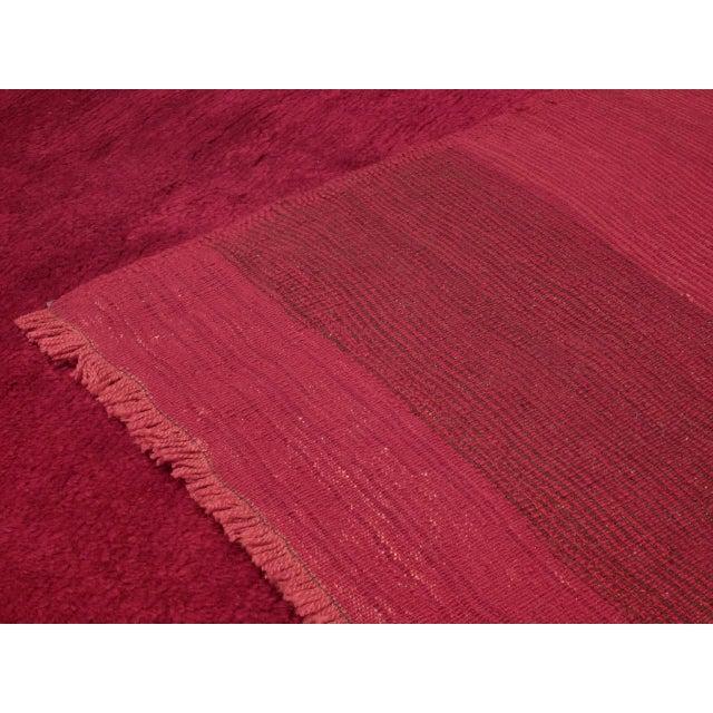 Textile Fantastic Red Tulu Carpet For Sale - Image 7 of 8