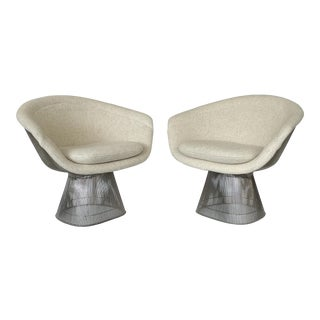 1970s Early Warren Platner Wire Lounge Chairs for Knoll - a Pair For Sale