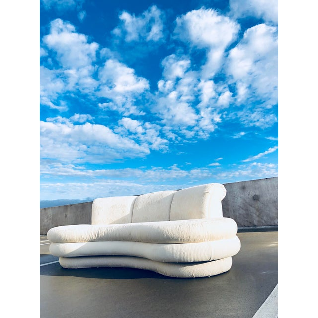 A cool 1980s Curved Kidney Shaped Cloud Sofa. A fabulous concept sofa by Adrian Pearsall for Comfort Designs. It's organic...