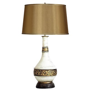 Antiqued Gilded Urn Table Lamp For Sale