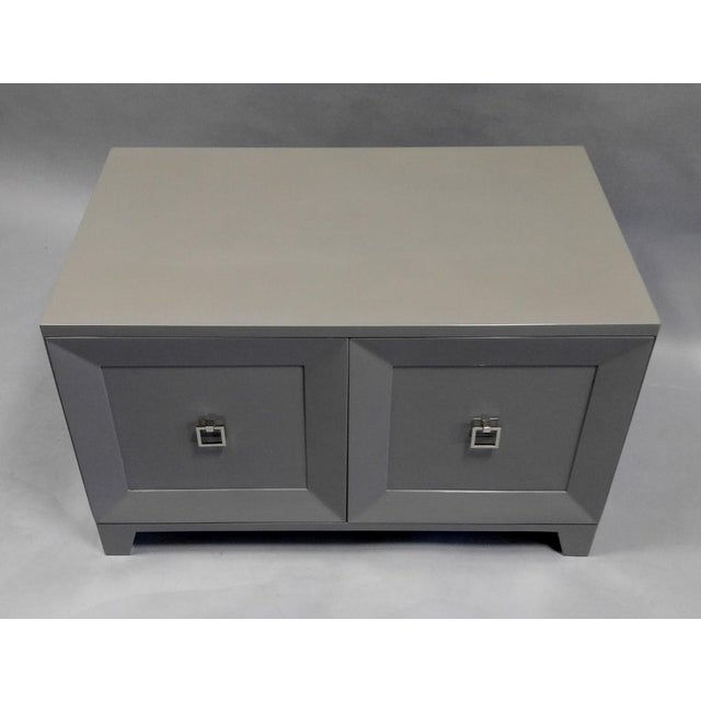 Contemporary Contemporary End Table With Doors and Matching Side Panels For Sale - Image 3 of 7