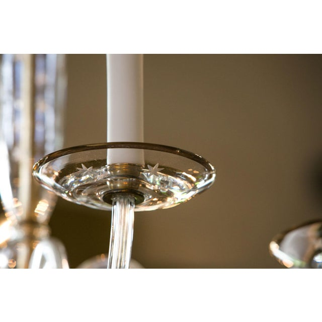 1960s Italian Clear Glass Chandelier For Sale - Image 5 of 8