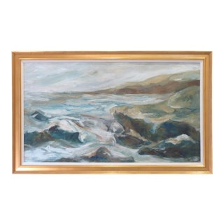 20th C. Seascape Oil Painting For Sale