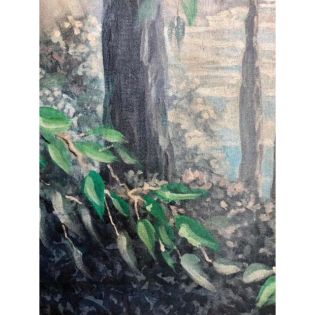 Italian Birds in the Forest Watercolor Painted Panels - Set of 2 For Sale - Image 11 of 13