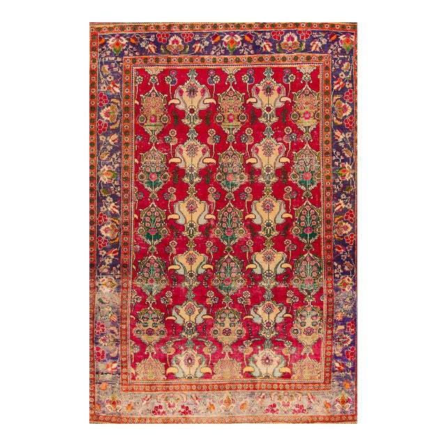"Apadana - Vintage Persian Tabriz Rug, 8'7"" x 12'5"" - Image 1 of 5"
