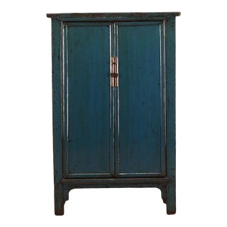 Antique Chinese Lacquered Elm Armoire For Sale