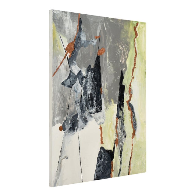 """Copper Contemporary Abstract Painting """"Copper Field"""" by Ashley Mayel For Sale - Image 8 of 9"""
