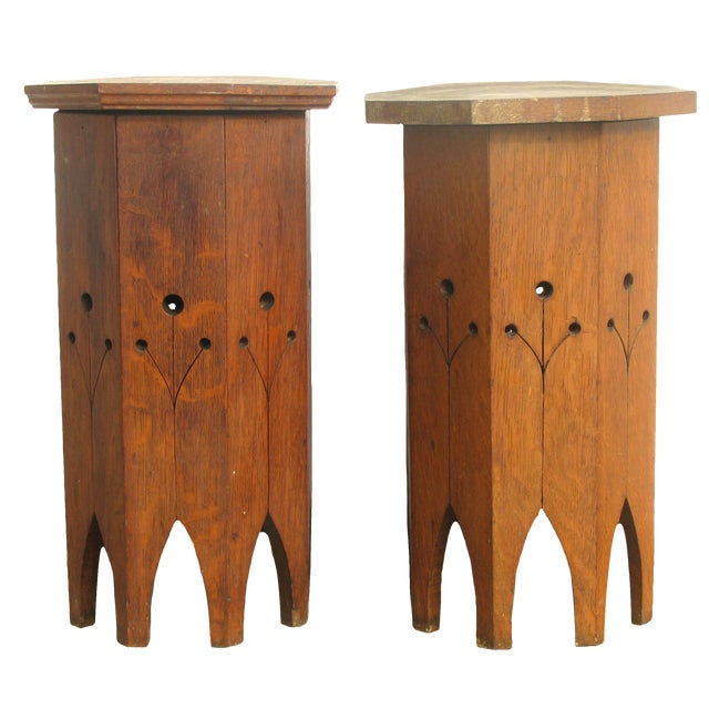 Near Pair of Moroccan Octagonal Accent Tables For Sale