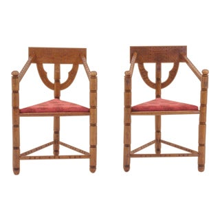 Pair of 1950s Swedish Chairs For Sale