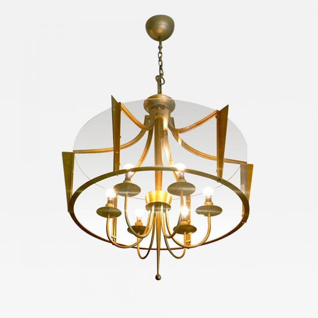 Bronze Raymond Subes Rare, Superb Neoclassic 1940s Chandelier For Sale - Image 7 of 7